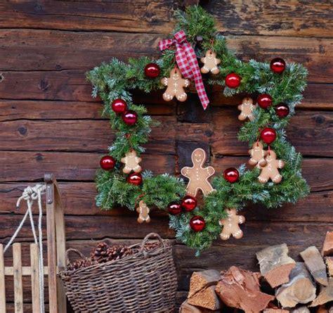 weihnachtsdeko für draussen selber basteln kranz in sternenform bild 6 living at home