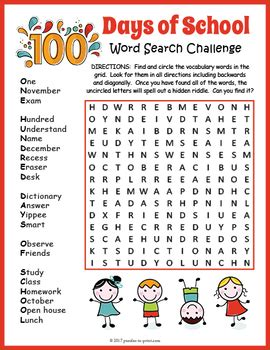 day  school word search  puzzles  print tpt