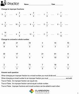 Fractions Changing Improper Mixed Lesson Plan | Clarendon ...