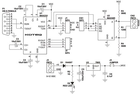 rs232 to rs485 module electronics lab