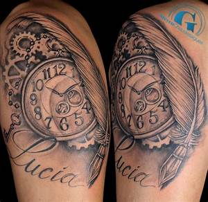 Tatouage Montre A Gousset Avant Bras : tatouage horloge graphicaderme ~ Carolinahurricanesstore.com Idées de Décoration