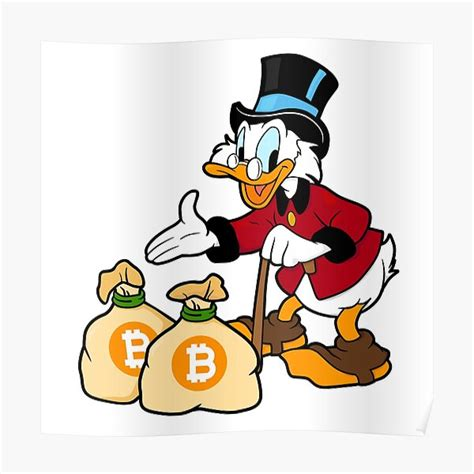 Since bitcoin's emergence in 2009, it has become the first thing people think about when the word crypto or blockchain comes up. Poster: Dagobert Duck | Redbubble