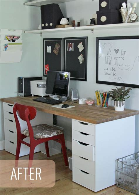ikea desk ideas the lovely cupboard our ikea office makeover numer 196 r countertop 6 1 1 4 quot x2 1 5 8 quot beech 129