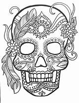 Coloring Skull Sugar Comments sketch template