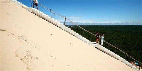 bassin d arcachon l escalier de la dune du pilat a 233 t 233 remis en place sud ouest fr