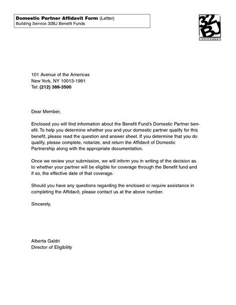 letter of affidavit letter of affidavit free printable documents