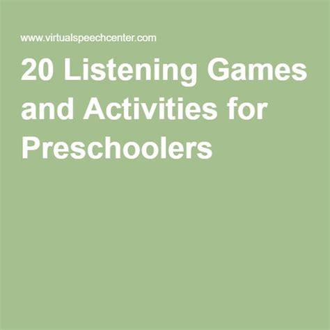 the 25 best listening ideas on 276 | ca34fbdf5f3c9378104545e71a5f6704 nursery activities activities for preschoolers