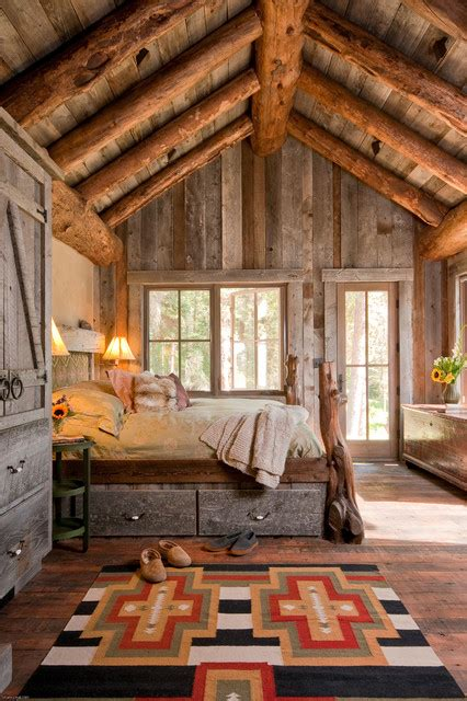 Headwaters Camp Cabin, Big Sky, Montana  Rustic Bedroom