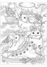 Mouse Coloring Pages Children Printable Sheets Adult Justcolor 123rf sketch template