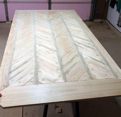 pedestal table herringbone top ana white