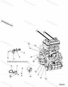 Polaris Side By Side 2016 Oem Parts Diagram For Engine  Cooling  Thermostat  U0026 Bypass All Options