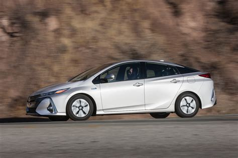 2017 Toyota Prius Prime Advanced Side Profile In Motion 04