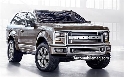bronco prototype 2017 ford bronco the revival of the former popular suv in