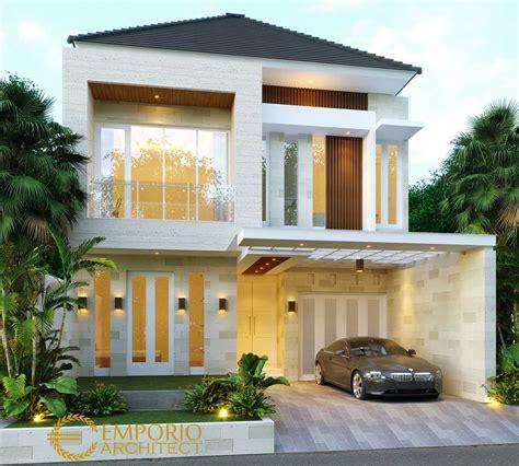 project desain rumah modern tropis  jakarta desain