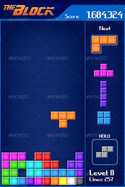 tetris mobile game sprite  nobic graphicriver