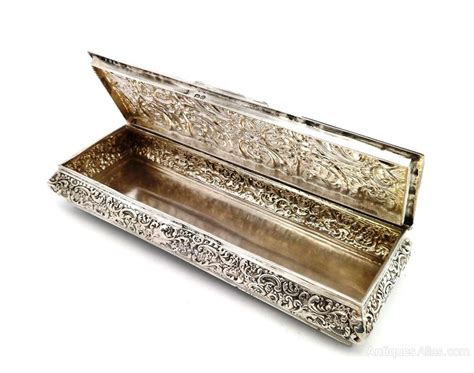 Antique Solid Silver Cufflink Box Chester 1897 How To Clean Antique Stainless Steel Antiques On The Farmington Metal Beds Uk Steiff Teddy Bear Value Paint Wood Furniture Gold Mens Wedding Rings Staircase Railing Military Perth Wa