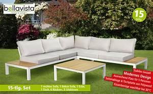 Lounge Garnitur Terrasse : bellavista alu lounge garnitur deluxe 15 tlg von norma f r 666 ansehen ~ Markanthonyermac.com Haus und Dekorationen