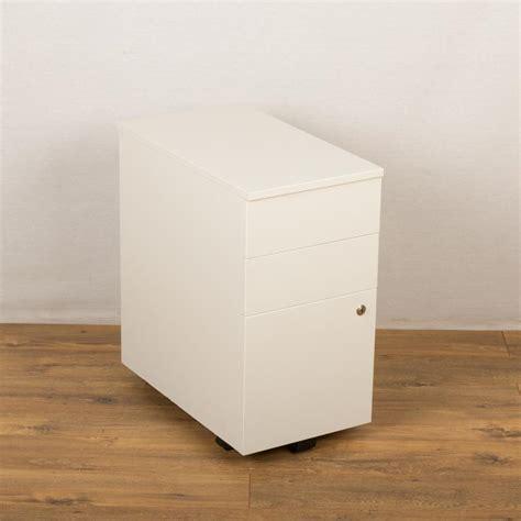 white pedestal desk with drawers senator white slimline 3 drawer under desk pedestal
