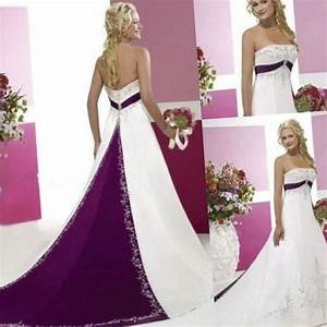 Plus size bridesmaid dresses purple pluslookeu collection for Royal purple and white wedding dress