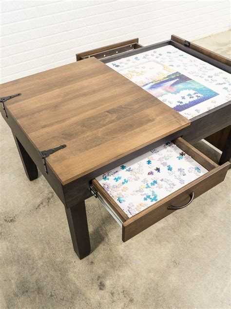 puzzle table coffee table height   diy puzzle