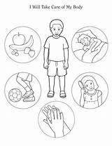 Healthy Physiology Habits Living Colouring Preschool Worksheets Anatomy Google sketch template