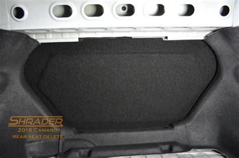 camaro rear seat delete shrader performance