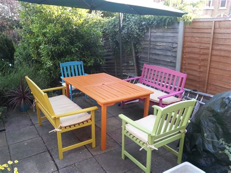 painted garden furniture chairs color best painted garden