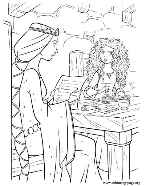 brave elinor  merida brave  coloring page