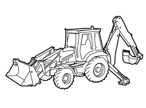 Coloring Jcb by Backhoe Drawing At Getdrawings Free For Personal Use