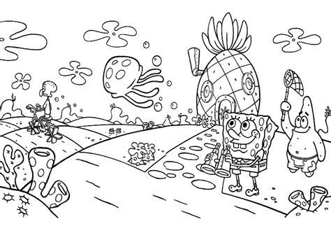ausmalbilder malvorlagen von spongebob schwammkopf