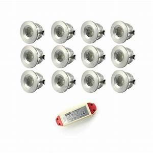 Mini Spot Led Encastrable : pack 12 mini spots led blanc fils ~ Dode.kayakingforconservation.com Idées de Décoration