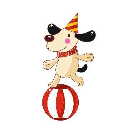 sticker chien equilibriste cirque chambre enfant