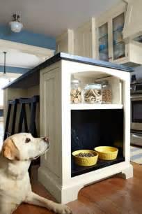 Built in Dog Feeding Station in Kitchen