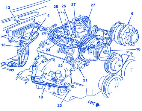 1989 Chevy 1500 Battery Wiring Diagram by Chevrolet 1500 Truck 4 3 1989 Engine Electrical Circuit