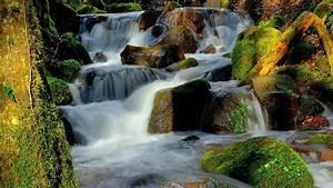 Waterfall, Water, Rocks, Moss, Beautiful, Hd, Wallpaper, Wallpapers13, Com