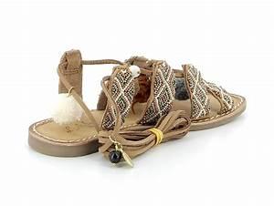 sandales nu pieds Atelier tropezien cy825 marron ...