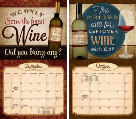 legacy wine  wall calendar  lang store