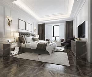3d, Model, Luxury, Classic, Modern, Bedroom, Suite, In