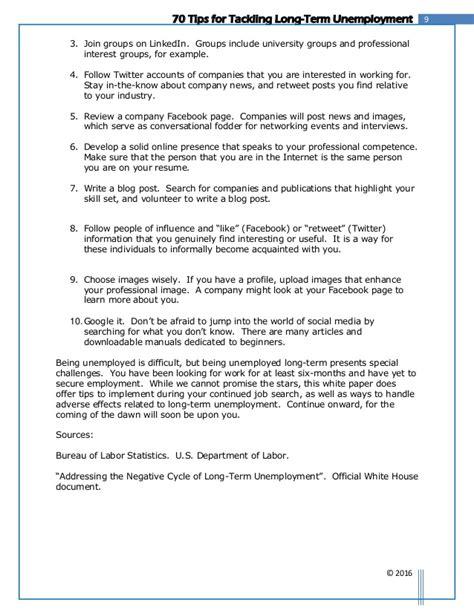 resume writing tips for unemployed