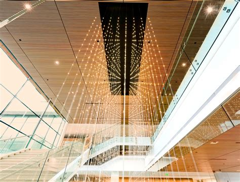 Suspended Wood Ceiling by Ce Center Suspended Wood Ceilings Design To Delivery
