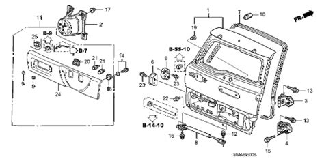 Honda Online Store Crv Tailgate Parts
