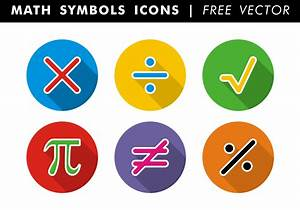 Math Symbols Icons Free Vector - Download Free Vector Art ...