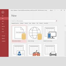 Access 2016 Create A Database