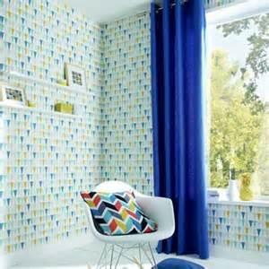 Rideau Castorama Jaune by Papier Peint Vinyle 224 Motifs Bleu Et Jaune Castorama