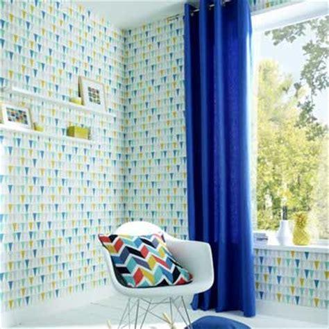 chambre scandinave jaune et bleu design de maison