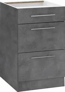 Küchenunterschrank 50 Cm Breit : wiho k chen unterschrank cali 50 cm breit mit 2 gro en ~ A.2002-acura-tl-radio.info Haus und Dekorationen