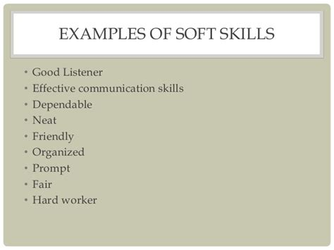 Exle Of Soft Skills In A Resume by Skills Vs Soft Skills