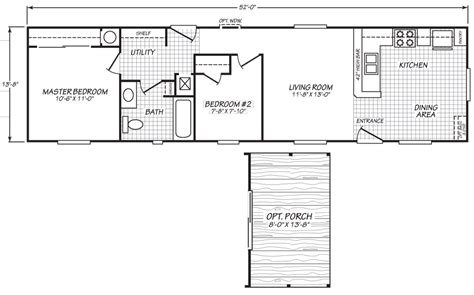 Vantage 14 X 52 693 Sqft Mobile Home