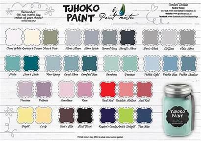 Colour Chart Paint Tjhoko Winter Enlarge Za