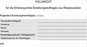 Reisevollmacht Einverständniserklärung Eltern : reisevollmacht der eltern muster die einf hrung flirten ~ Themetempest.com Abrechnung